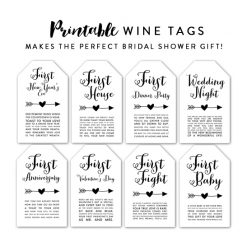 image about Free Printable Wine Tags for Bridal Shower identified as Bridal Showers Printables Printable Market place