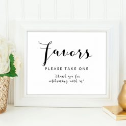 image about Free Printable Please Take One Sign titled Free of charge Marriage Printables Printable Marketplace