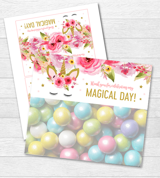 photo relating to Printable Bag Toppers titled Unicorn Birthday Magical Working day Prefer Bag Toppers - Red Gold Glitter - Printable Prompt Down load