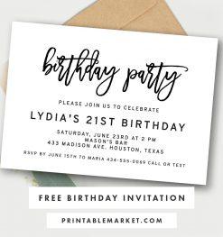 Free Invitations Printable Market