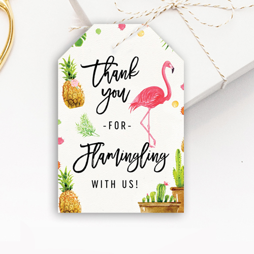 Free Flamingle Gift Thank You Tags Flamingo Birthday Party Printable Instant Download