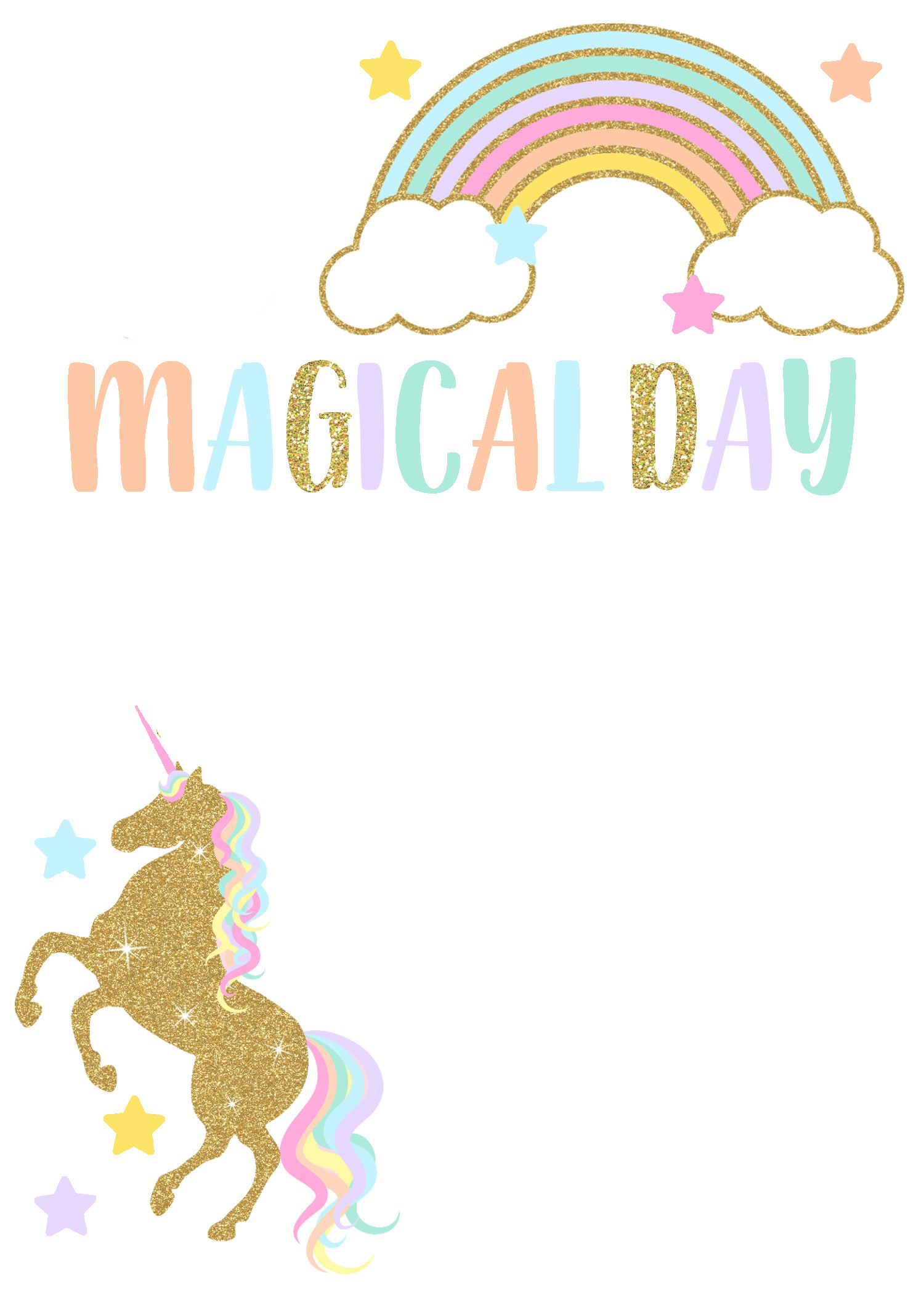 Free Editable Birthday Party Invitation Template - Unicorn Magical